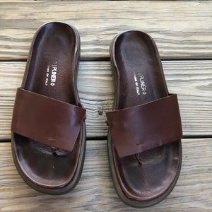 Donald J Pliner FOFO Brown Leather Sandals
